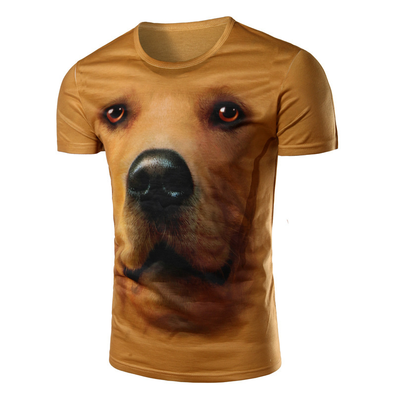 Foreign Trade Wholesale Purchasing 3d Realistic Head Stamp Kd Pop Explosion Casual Short Sleeve Head T-shirt(China (Mainland))