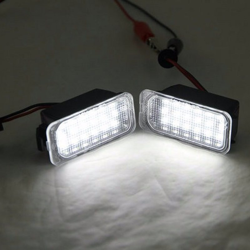 License Plate Lamp Lights For Ford Fiesta S-MAX C-MAX Kuga Mondeo Galaxy Jaguar
