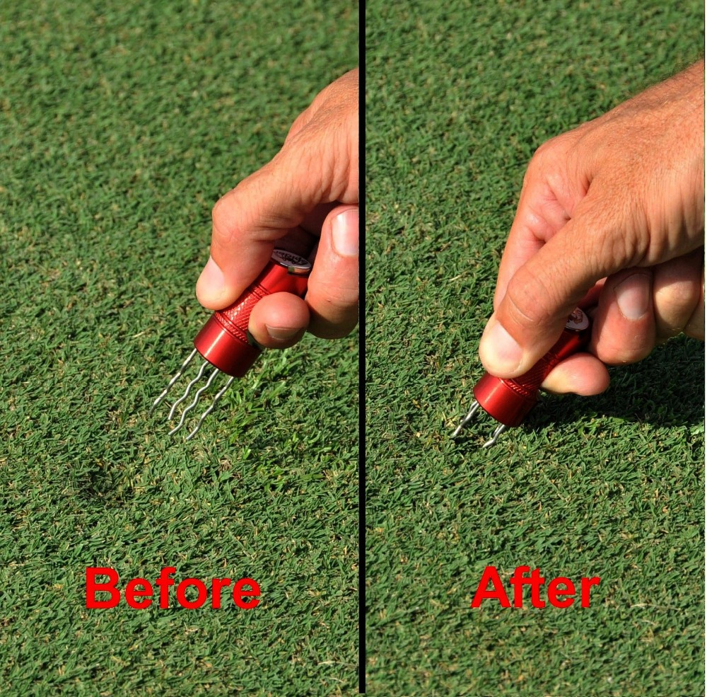 2014 Best Seller RED/Spider Divot Tool / Golf Pitch Mark Repairer with Ball Marker(China (Mainland))