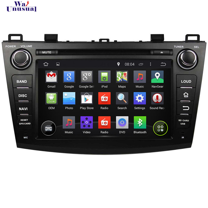"""1024*600 8"""" 2DIN Pure 5.1.1 Android Special Car DVD Player for MAZDA 3 2009-2012 with Bluetooth 3G Wifi Quad Core free shipping(China (Mainland))"""