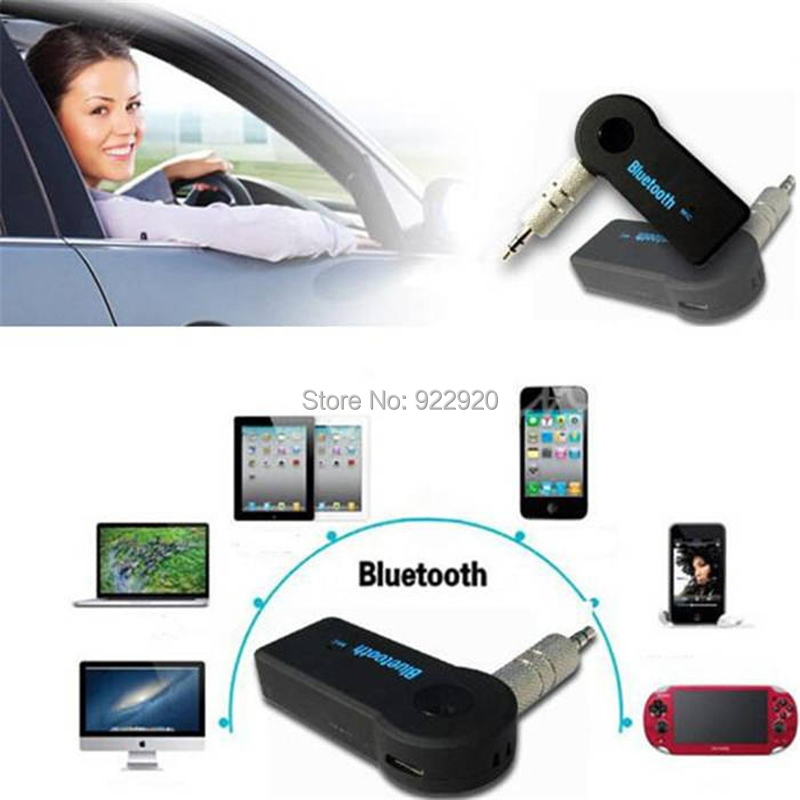2015 New arrival Fashion Car Bluetooth 3.5mm Audio Music Streaming Receiver Adapter (Hands-free ) Dual Bluetooth link(China (Mainland))