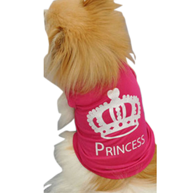 Cheap Dog Vest Fashion Summer Pet Dog Shirts Cat Cute Imperial Crown T-shirt Clothing pet roupas para cachorros(China (Mainland))