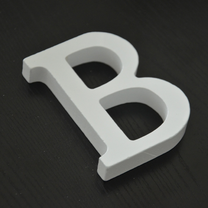 B letters shape company decoration wood craft free standing wedding part birthday item decoration accessories guide sign(China (Mainland))