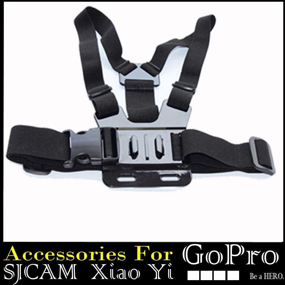Gopro Chest harness strap Adjustable Elastic for Go pro Hero3 Hero4 Hero 1 2 3 3+ 4 SJ4000 Sj5000 Sj6000 Black Edition<br><br>Aliexpress