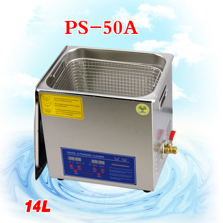 FreebyDHL2PC110V/220V PS-50A 400W14L Ultrasonic cleaning machines circuit board parts laboratory cleaner/electronic products etc(China (Mainland))
