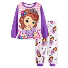 2016 cotton children sleeping suits autumn pajamas kids Fashion newst homewear baby pajamas pajamas home wear clothes LL41(China)