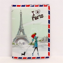 Buy Love Eiffel Tower Passport Holder Thin PVC Leather Paris Travel Passport Cover Credit Card ID Card Holder Size:10*14CM for $2.03 in AliExpress store