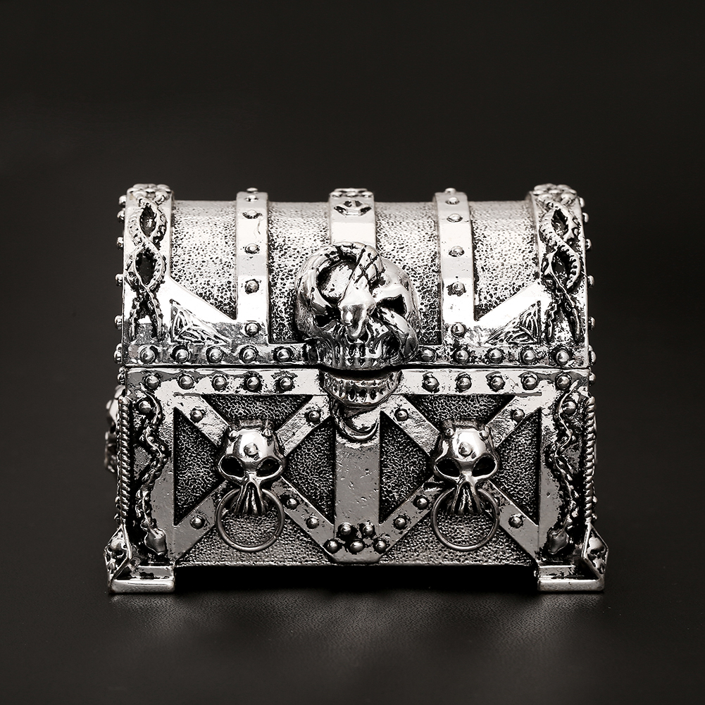Silver Metal Skull Jewelry Box for Value Accessories Organizer Carrying Case Packaging Display Gross Weight 330g(China (Mainland))