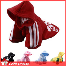 2016 New Dog Clothes for Winter Warm clothes Small Medium Big dog pet Coat XS to XXL Spring Summer Sport Cotton ChiHuaHua China(China (Mainland))