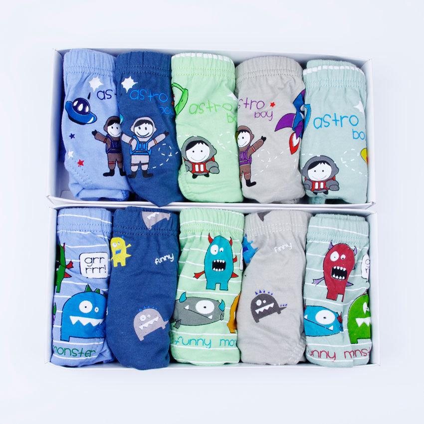 Free shipping 10 pcs/lot Children's Cotton Briefs Underwear Printed 100%cotton Boys underwear Cartoon Boy underpants 1061(China (Mainland))