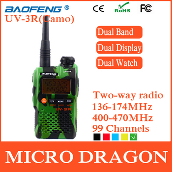 New BaoFeng UV-3R Professional Dual Band Transceiver FM Ham Two Way Radio Walkie Talkie Transmitter cb Radio Station