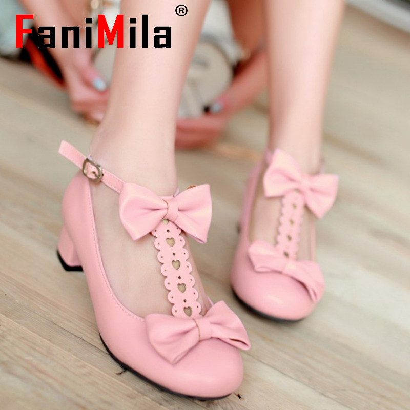 women high heel shoes casaul bowtie sexy quality lady brand female fashion heeled pumps heels shoes size 32-43 P16662<br><br>Aliexpress