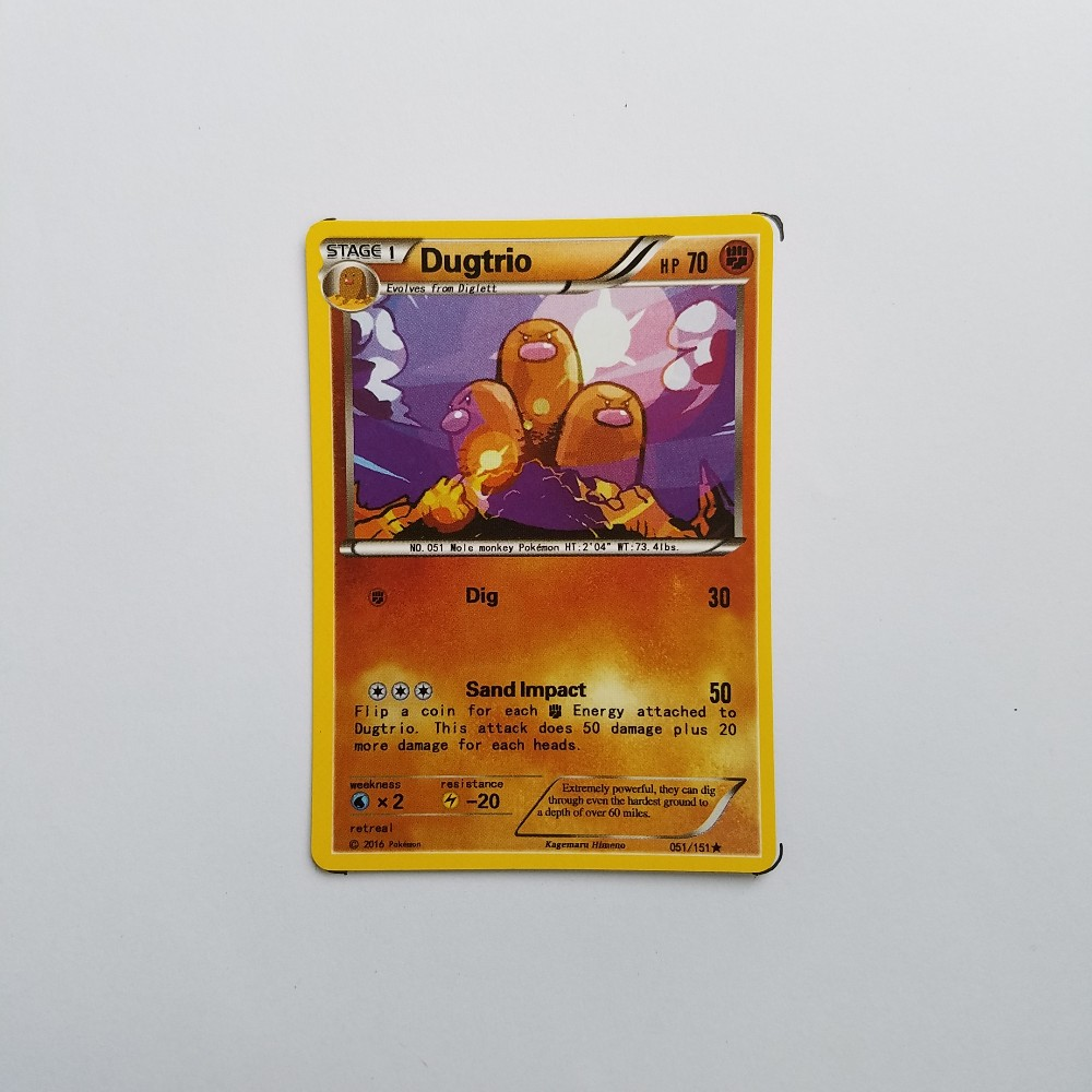 Pokemon Card Single Sale B70008 Dugtrio Rock Type STAGE 1 Ordinary Card Play Anime Toys Cards Game Trading Collection