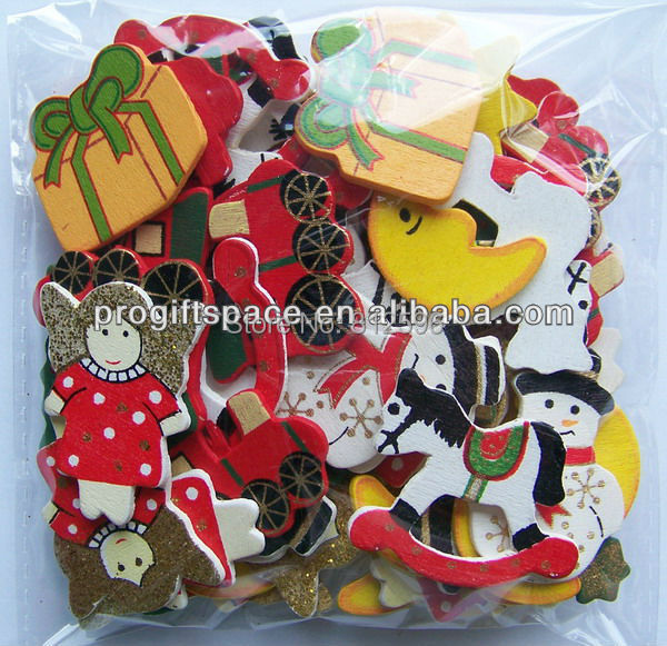 500pcs Free Shipping 2016 New Fashion Crafts Party Supplies Wooden Christmas Decoration Ornaments Toy Accessories for Children(China (Mainland))
