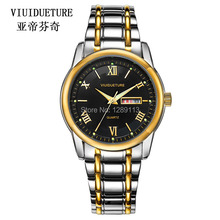 VIUIDUETURE Fashion Men Quartz Watches Mens Luxury Brand Gold Watch Waterproof Business Gents Wristwatch EF-550RBSP-1AV