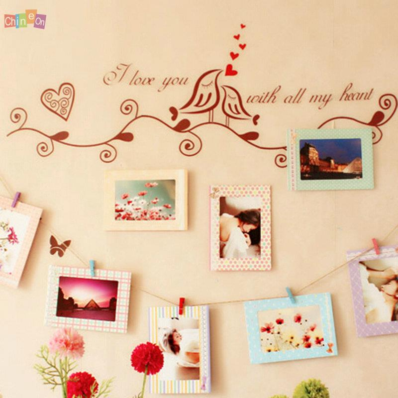 Гаджет  New 2015 Hot Sale 8pcs 6inch Rectangle Paper Photo Frame Wall Picture Album DIY Hanging Rope Frame None Дом и Сад