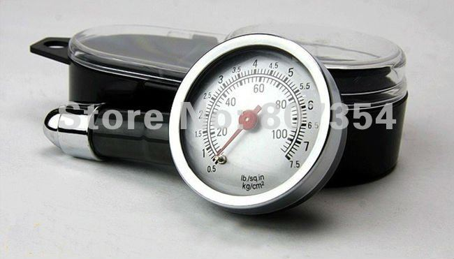 Free shipping, high precision metal delicate tire pressure, tire pressure gauge, Portable tire pressure monitoring table