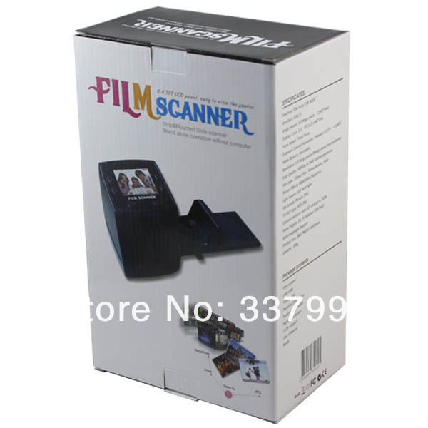 "Hotsale! USB 2.4""LCD Digital 35mm Film Converter Slide Negative Photo Scanner Free shipping with retai box(China (Mainland))"