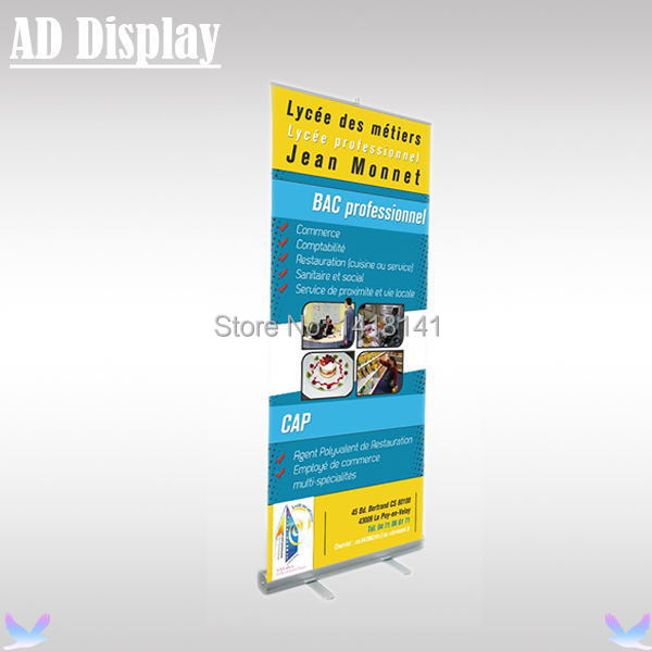 85*200cm 2.6kg High Quality Exhibition Aluminum Retractable Roll Up Banner Stand,Portable Durable Advertising Display Equipment(China (Mainland))