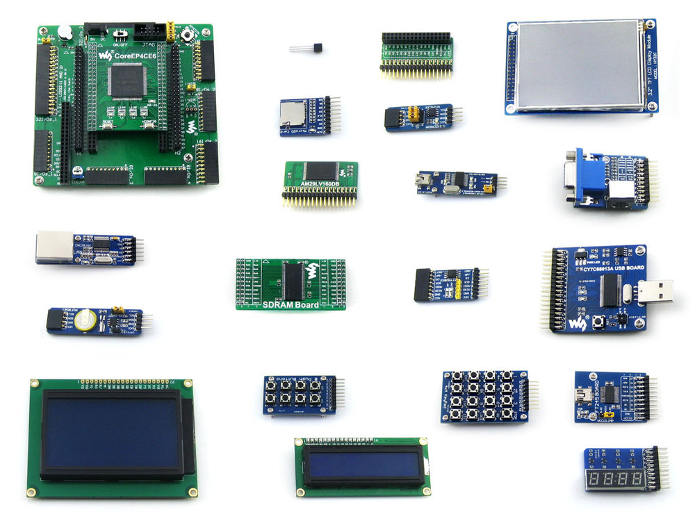 Altera Cyclone Board EP4CE6-C EP4CE6E22C8N ALTERA Cyclone IV FPGA Development Board +18 Accessory Kit =OpenEP4CE6-C Package B(China (Mainland))