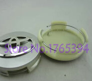 Free shipping 4pcs/lot 62mm 3D chrome Car Wheel Center Hub Caps emblem badge for toyota Corolla(China (Mainland))