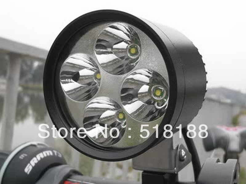Brand New Waterproof HID White DC 12V CREE XML U2 T6 4 LEDs Spotlight 900Lm x 2 = 1800Lm for Motorcycle, ATV, Car, Boat......<br><br>Aliexpress