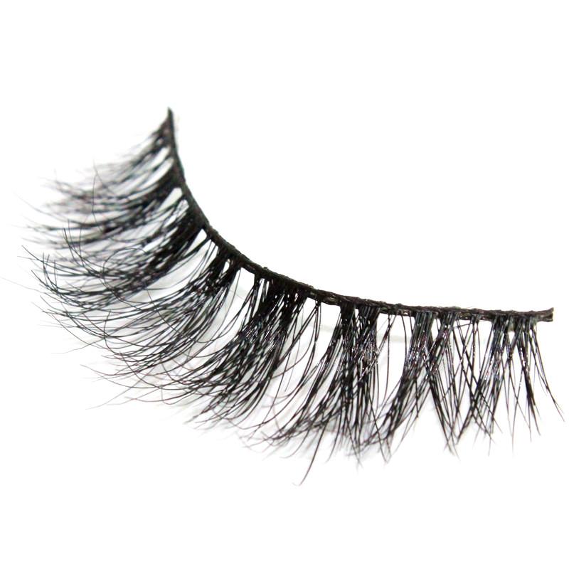 High quality 3D voluminous false eyelash 100% siberian mink handmade soft natural Crisscross eye lashes individual strip lashes(China (Mainland))