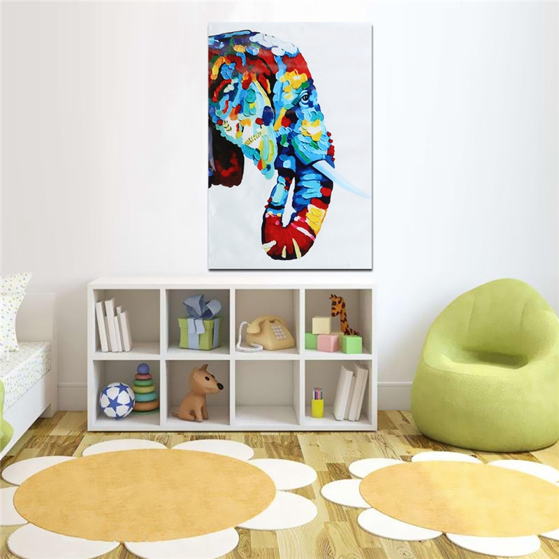 NEW Novel Unframed Canvas Elephant Prints Modern Home Kids Room Decor Wall Art Painting Picture Artwork For Bedroom Living Room(China (Mainland))