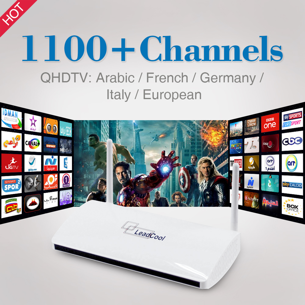 Quad Core Italy Germany UK Arabic Android Smart TV Box 1100+Live IPTV Channels 1080P HD Sky Sports Canal Plus French Set Top Box(China (Mainland))
