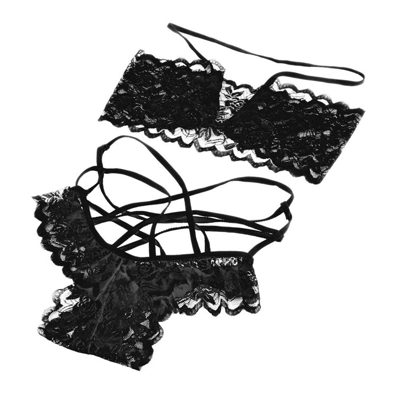 1set sexy Lace lingerie Hot Sate Exotic Apparel Sexy Lace open bra Panties costumes Sets women
