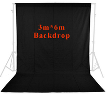 Buy Inno photo studio Muslin Background Backdrop 10ft x 20ft/3m x 6m Black Photo Studio Solid 100% cotton photographic PSB1B for $67.22 in AliExpress store