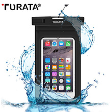 TURATA Universal Waterproof Case for iPhone 7 6 6S Plus Samsung Galaxy S7 S6 Edge Note 5 Best WaterProof Pouch Bag for CellPhone(China (Mainland))