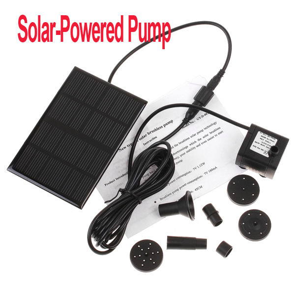 Freeshipping Garden Brushless Solar Water Pump For Water Cycle/Pond Fountain/Rockery Fountain,dropshipping Wholesale(China (Mainland))