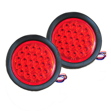 Truck Trailer Lights DC 24V LED Car  Stop/Turn/Tail Self-Contained Round Waterproof LED Truck Lights 2pcs/Lot(China (Mainland))