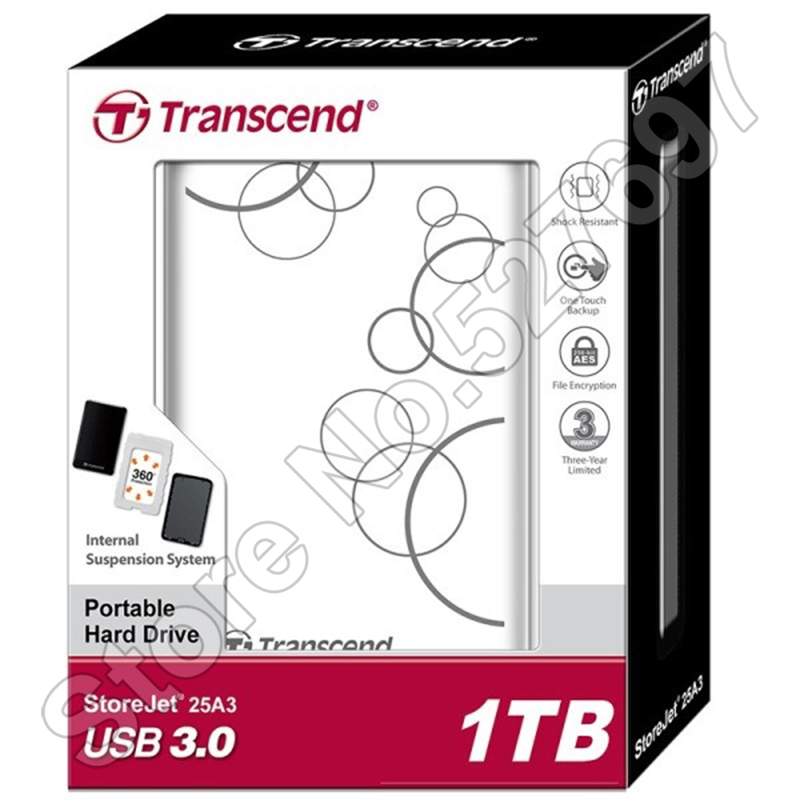 Transcend StoreJet 25A3 SuperSpeed USB 3.0 Hard Disk Drive 1TB HDD External Storage Portable Storage Shock-resistant Auto-Backup(China (Mainland))