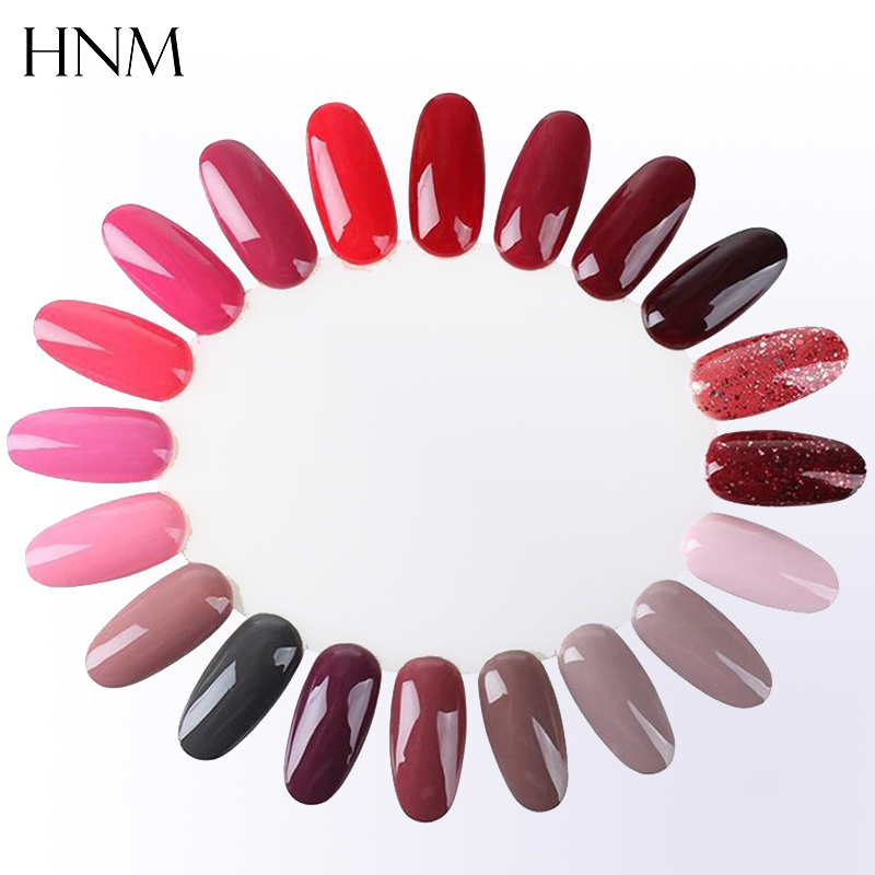 HNM 10pcs Clear Transparent False Nail Tips Display Model for Nail Gel Polish Colors Manicure Practice Tools Nail Art Diy Design(China (Mainland))