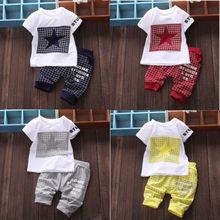 2015 Baby Boy Kid 2pcs Set STAR Sportswear T-shirt Tops Short Pants Outfit Suits(China (Mainland))