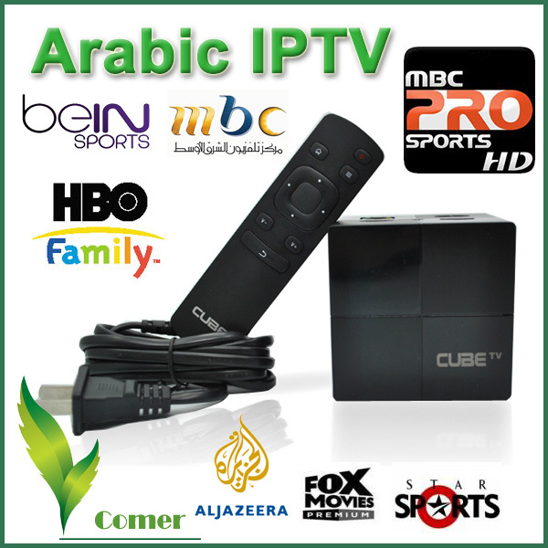 Arabic Iptv Magic Box Free Shipping Fee Support Bein Sport MBC Android 4.4 Smart TV Box(China (Mainland))