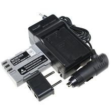 7.4 В 1500 мАч EN-EL3e замена аккумулятор камеры + ан EL3e устройство + автомобильное зарядное устройство для Nikon D50 D90 D80 D100 D200