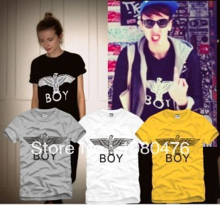 100% cotton boy london short sleeve t-shirt eagle logo tee shirt big bang hip hop tshirt(China (Mainland))
