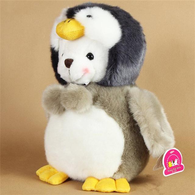 Супер Kawaii 25 см плюшевые пингвин мягкие игрушки плюшевый мишка с шляпа корейски игрушки клуб красочные куклы для детей BL1154