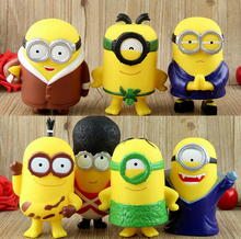 2015 new 7pcs/set anime minions despicable me 3 pvc action figure model toys Doll juguetes hot sale free shipping