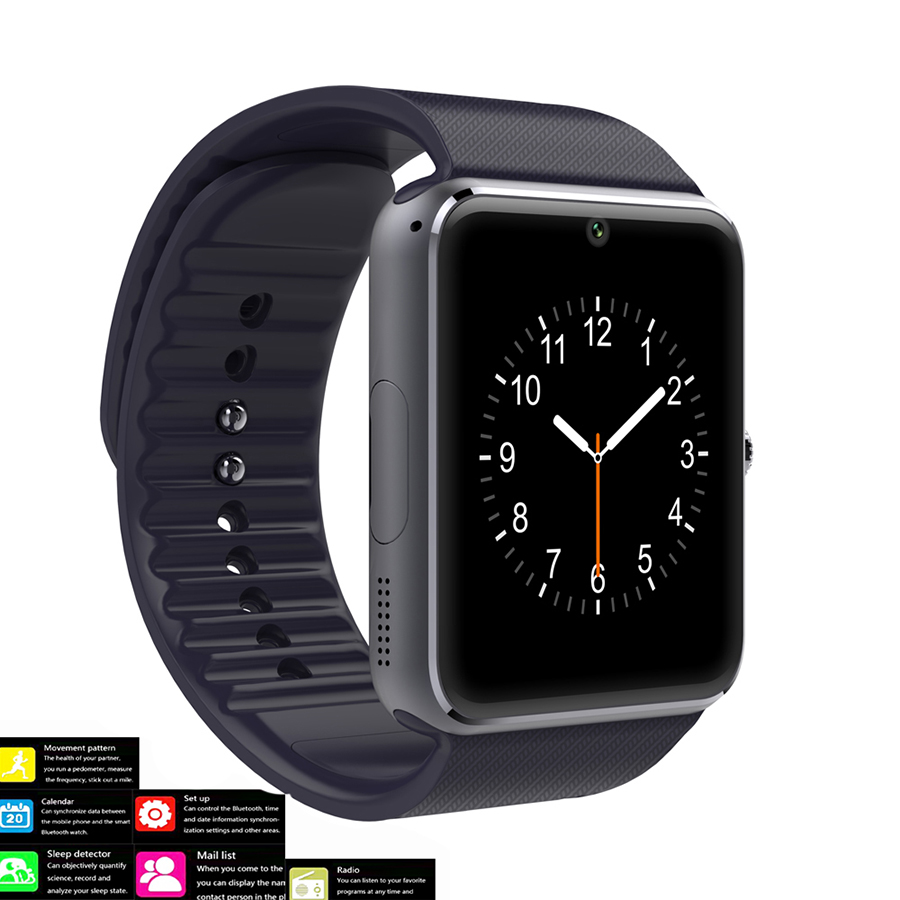 Bluetooth Smartwatch GT08 Smart Watch for iPhone 6/5S Samsung S4/Note3 HTC Android Phone Smartphones Android Wear pk GV18 dz09