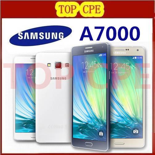 Original Samsung Galaxy A7 A7000 cell phones Octa Core 2G RAM 16G ROM 13MP Camera 5.5'' dual sim card LTE WCDMA Free Shipping(China (Mainland))