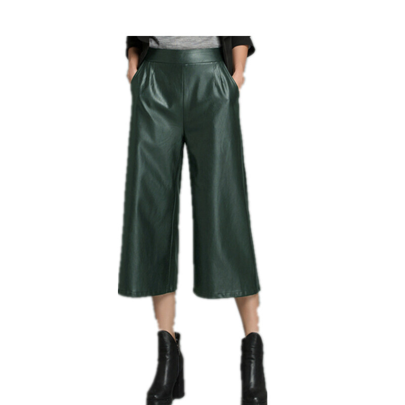 Popular Faux Leather Wide Leg Plus Size-Buy Cheap Faux Leather ...