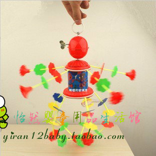 free shipping music bed bell wind up rotating bed bell toy infant toys hand bell toy toy(China (Mainland))