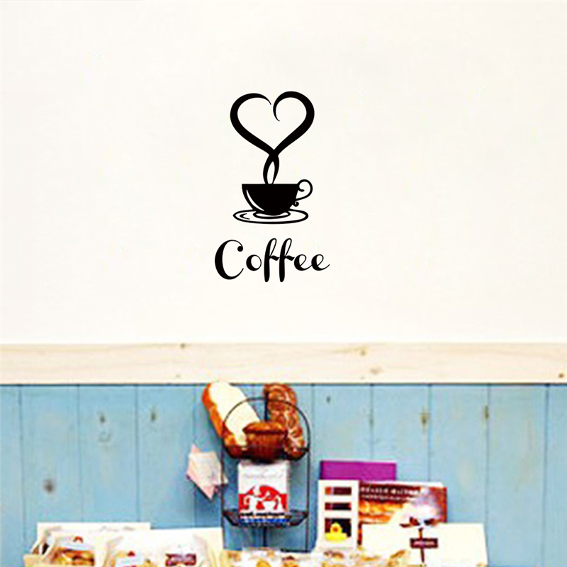 2016 have a cup of coffee wall stickers dining room for 3d dining room wall art