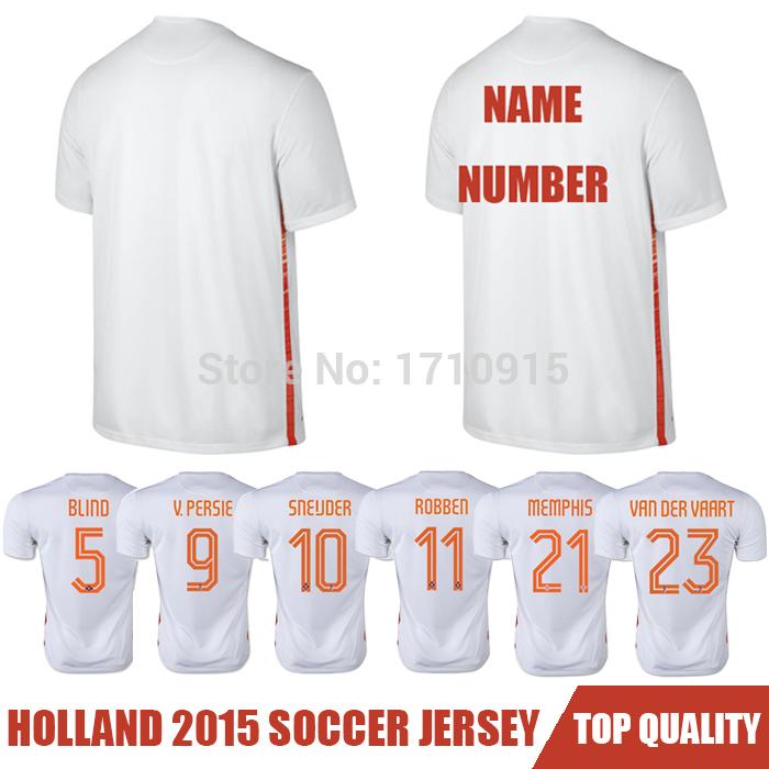 Camisa Netherlands 2015 Soccer Jerseys,Chandal Netherlands Jersey 15 16 Robben Football Shirt Custom White New Holland Best Thai(China (Mainland))