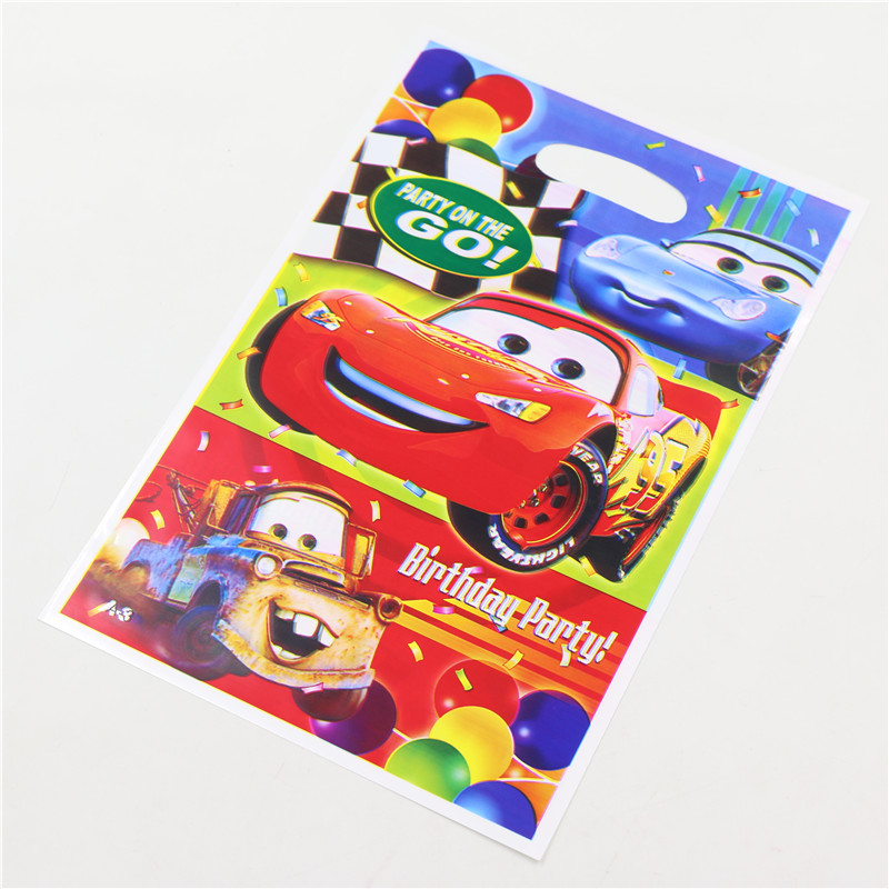 wholesale 20pcs/lot children birthday party decoration kids boys candy loot bags party gift bags cars cartoon packaging bags(China (Mainland))