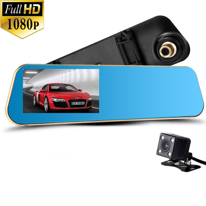 2017 Newest Car Camera Car Dvr Blue Review Mirror Digital Video Recorder Auto Navigator Registrator Camcorder Full HD 1080P Dvrs(China (Mainland))